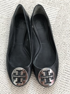 Tory Burch Ballerinas with Toecap black-silver-colored