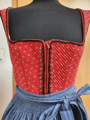 Vestido Dirndl rojo-azul