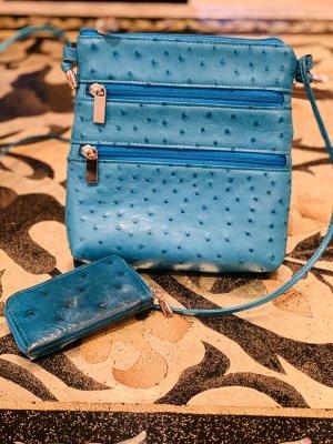 Mini sac turquoise