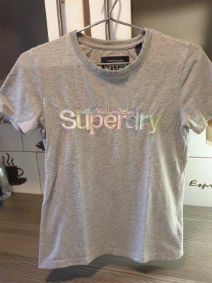 Original Superdry T-Shirt Damen Grau Größe 36