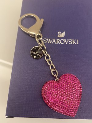 Swarovski Key Chain silver-colored-pink