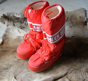 Moon boot Botas de nieve rojo-blanco Nailon
