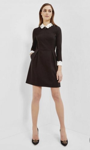 Original Ted Baker London Kleid Bubikragen Neu