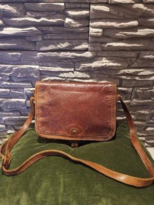Original The Bridge Vintage Tasche echt Leder braun Umhängetasche