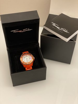Original Thomas Sabo Uhr orange neu