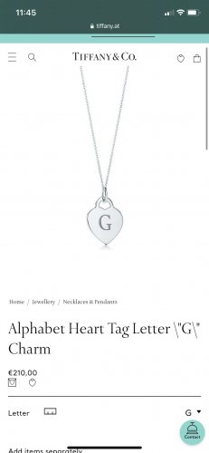 Tiffany&Co Name Necklace silver-colored