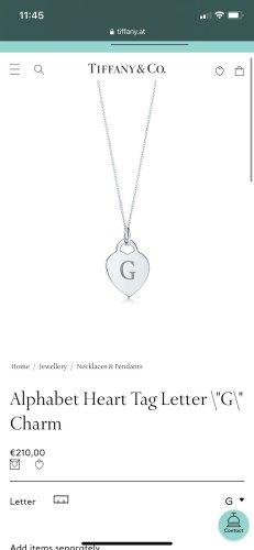 Tiffany&Co Naamketting zilver