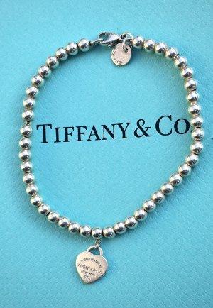Original Tiffany Kugel Armband Kugelarmband Herz Anhänger Türkis