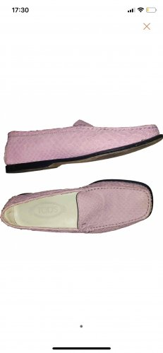 Original Tod's Damen Reptil Python Mokassin 36 rosa pink bootsschuhe