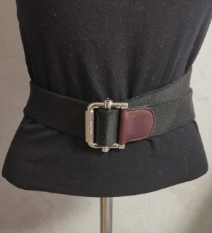 Tods Fabric Belt black-black brown leather