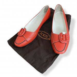 Tod's Moccasins red-bright red leather