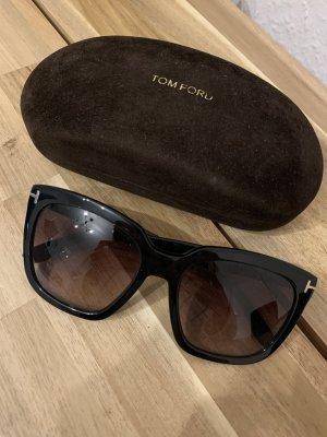 Tom Ford Occhiale da sole spigoloso nero Acetato