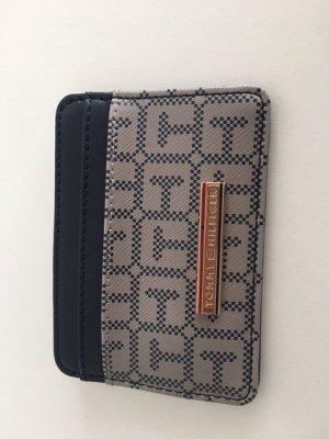 Tommy Hilfiger Porte-cartes noir-beige faux cuir