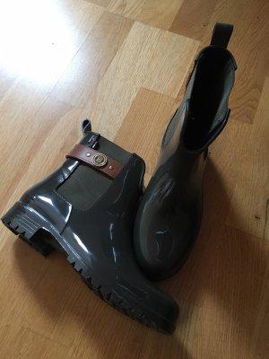 Tommy Hilfiger Wellington laarzen donkergroen