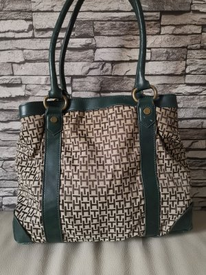 Original Tommy Hilfiger Tasche Shopper grün braun
