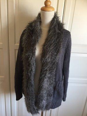 Topshop Wool Jacket silver-colored-grey
