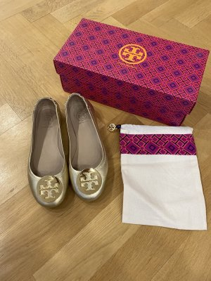 Tory Burch Foldable Ballet Flats gold-colored leather
