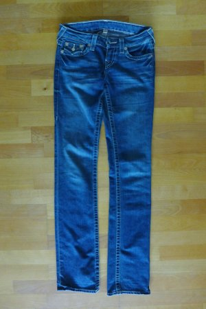 Original True Religion Jeans Straight Gerade Röhre blau Gr. 26 XS S