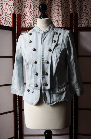 Original True Vintage Jeansjacke Military Stil
