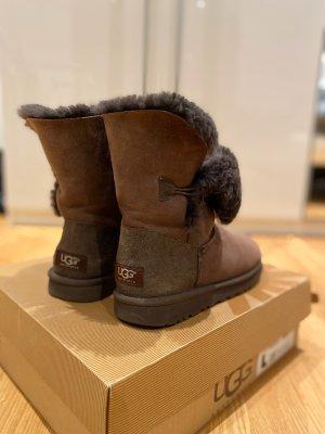 UGG Australia Bottes de neige brun foncé cuir