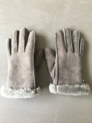 UGG Australia Fur Gloves grey leather
