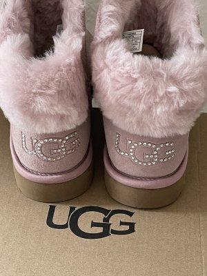 UGG Botines de invierno rosa empolvado-rosa Cuero