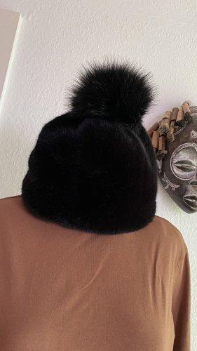UGG Sombrero de piel negro