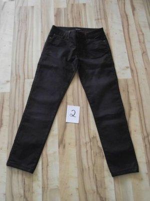 More & More Drainpipe Trousers black