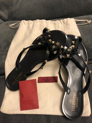 Flip-Flop Sandals black mixture fibre