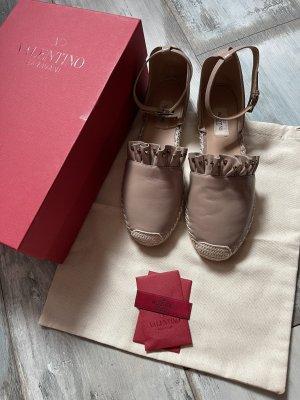 Valentino Garavani Alpargatas marrón claro-rosa empolvado Cuero