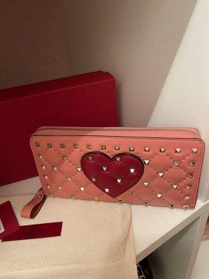 Original Valentino Garavani Leder Geldbörse Herz mit Nieten 620€