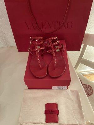 Original Valentino Garavani Rockstud Leder Sandalen Zehentrenner 620€