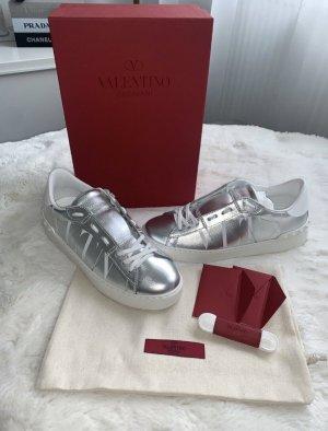 Valentino Garavani Lace-Up Sneaker silver-colored