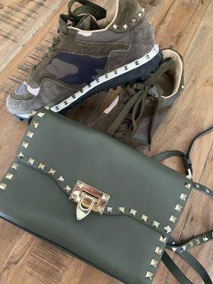 Original Valentino Rockstud Crossbody Bag Green