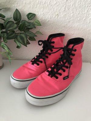 Vans High top sneaker neonroos