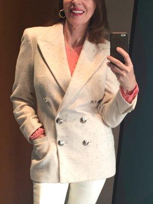 Gianni Versace Blazer de lana blanco puro