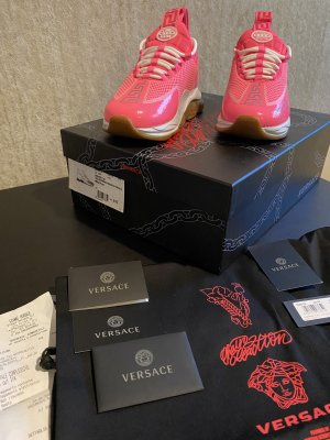 Original Versace Chain Reaction Sneaker neon pink 37 neu Fullset