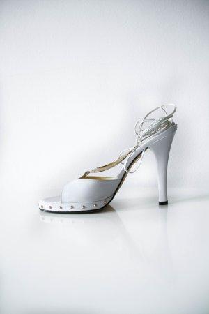 Versace Sandały na obcasie biały