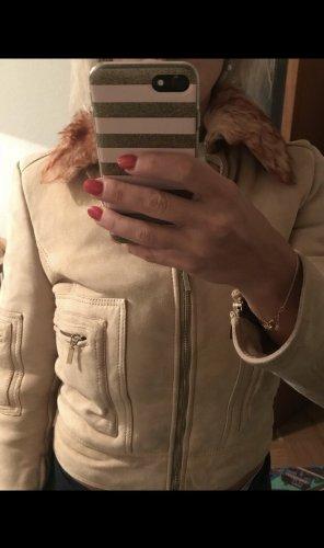 Original versace shearling Jacke echtleder echtfell gr xs beige top