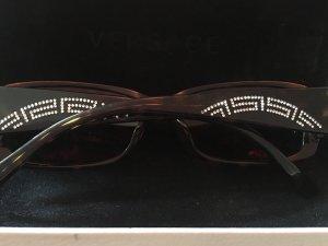 Versace Gafas de sol cuadradas marrón-negro-verde oscuro
