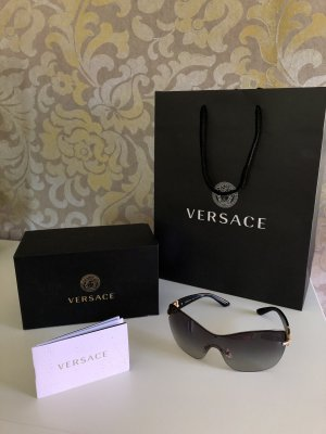 Versace Gafas de sol ovaladas negro-gris