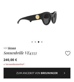 Versace Gafas de sol ovaladas negro-color oro