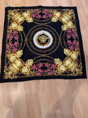 Gianni Versace Silk Scarf gold-colored-black