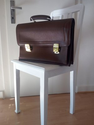 Vintage Briefcase cognac-coloured
