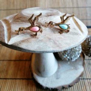 Spilla oro-turchese