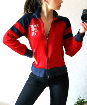 True Vintage College Jacket brick red-dark blue