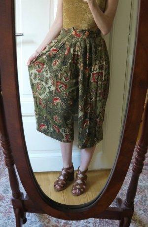 Culottes olijfgroen-rood