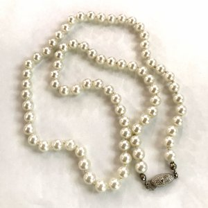 Vintage Collar de perlas blanco-blanco puro