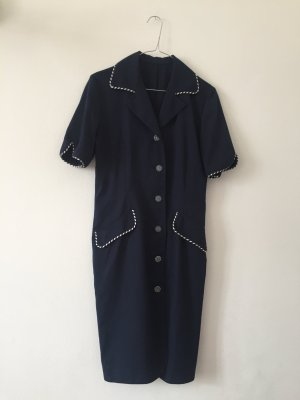 Original Vintage Kleid im Marinelook geknöpft Gr.34