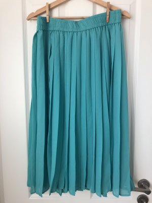 True Vintage Jupe plissée turquoise